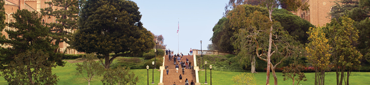 Students walking on the Janss Steps